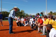 Coach Dave Bristol at the 3rd annual Legends of the Game Baseball Clinic