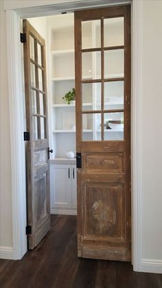 Do a slider or pocket door from the right like this into the master bath