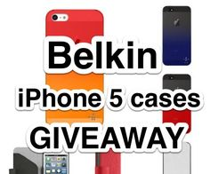 LiewCF Tech Blog giveaway 7x Belkin iPhone 5 cases (worth ranging between RM69–149) to his readers!