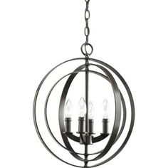 $198.57 Thomasville Lighting - Equinox Collection Antique Bronze 4-light Foyer Pendant - 785247155439 - Home Depot Canada