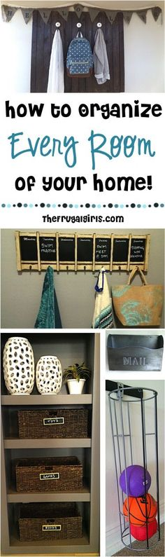 How to Organize Every Room of your Home! A place for everything, and everything in its place, right? Check out these simple tips for getting your house in tip-top organized shape! ~ at TheFrugalGirls.com
