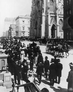 Easter Parade on Fifth Avenue in front of St. Patrick's Cathedral, New York 1902