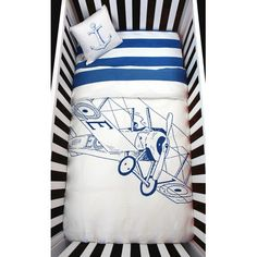 Atelier ëdele Biplane 4 Piece Organic Baby Microfiber Duvet Crib Bedding Set & Reviews | Wayfair