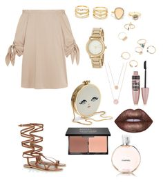 """Look I"" by irem-k on Polyvore featuring TIBI, Lipsy, LULUS, DKNY, Michael Kors, Lime Crime, Maybelline, blacklUp ve Chanel"
