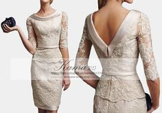 Mother Of The Bride Dresses Knee Length Lace Wedding Guest Cocktail Party Gown