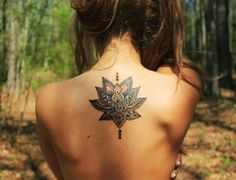 Lotus tattoo on back - 100 Awesome Back Tattoo Ideas  <3 <3