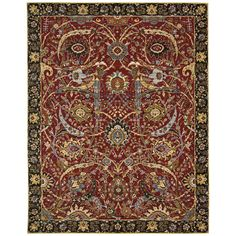 "Nourision RH015 7'9"" x 9'9"" Red Area Rug"