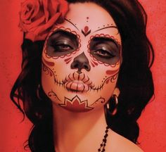 Resultado de imagen para catrina makeup for halloween
