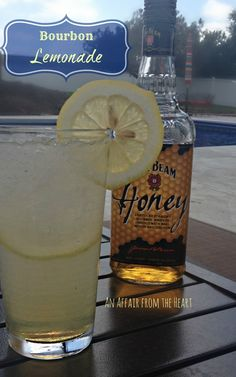 bourbon lemonade cocktail - anaffairfromtheheart.com refreshing lemonade cocktail made with #JimBeam Honey #Bourbon