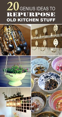 Be creative in your kitchen by repurposing old kitchen items!