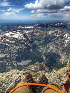 The view on the Grand Teton, Wyoming