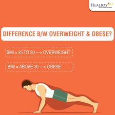Overweight & Obese are not the same. know more about obesity  visit us:http://www.healios.in/