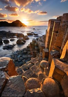 The Wishing Chair at the Giant's Causeway, Co. Antrim, Ireland