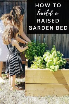 Learn how to Build a Raised Garden Bed... Simple, easy, pretty and functional! #Garden #GardenIdeas #RaisedFlowerBed #Gardening #ContainerGarden