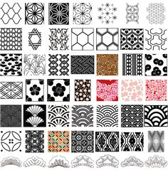 jp geometric patterns. Download free Japanese Traditional vector patterns