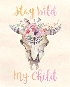 Watercolor Print perfect for a boho nursery & little girls room. Only $5