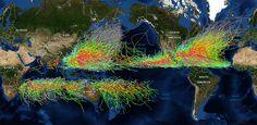 Fogonazos: Más de 150 años de huracanes en una imagen