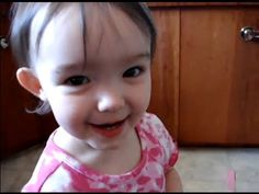 """And this girl who can't say """"banana"""": 