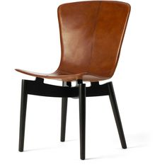 Shell Chair - Saddle Leather, Black Frame