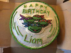 TMNT Buttercream Transfer Birthday Cake