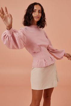 Finders Keepers Amor Knit In Pink Summer Fashion Trends, Spring Summer Fashion, Long Tops, Long Sleeve Tops, Finders Keepers, Celebrity Outfits, Fashion Labels, World Of Fashion, Winter Outfits