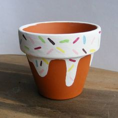 Items similar to Plant Pot Small Plant Pot Hand Painted Pot Cactus Planter Cacti Pot Succulent Pot Mini Plant Pot Terracotta Pot on Etsy Flower Pot Art, Flower Pot Design, Flower Pot Crafts, Clay Pot Crafts, Cactus Flower, Flower Plants, Painted Plant Pots, Painted Flower Pots, Painting Terracotta Pots