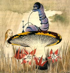 "redlipstickresurrected: ""Tove Jansson aka Tove Marika Jansson (Finnish, 1914-2001, b. Helsinki, Finland) - Illustration for Alice In Wonderland. Drawings """