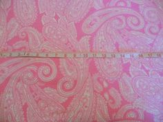 New Pink Paisley Snuggle Cotton Flannel Sewing by flyingdollar