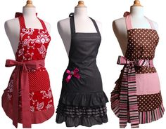 Flirty Aprons Flash Sale.  I would love one of these! Especially the lime green one (that's not shown here, obviously, lol)