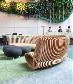 Elegant Unique Spill Bench Seating Of Lobby Design. See More. Hotel ICON Hong Kong  By Petite Passport