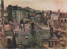 Van Gogh - Blick auf die Dächer von Paris, 1886