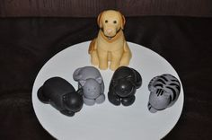 Dog and cats for a cake topper by Cake Creations by Christina