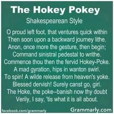Shakespearian Hokey Pokey I. If ever I am allowed to teach Shakespeare, I will use this as an intro William Shakespeare, Shakespeare Funny, Shakespeare Lyrics, Shakespeare Birthday, Shakespeare Insults, Shakespeare Festival, This Is Your Life, In This World, Just In Case