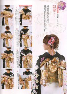 「how tie fancy obi knots」の画像検索結果 Traditional Fashion, Traditional Dresses, Japanese Kimono, Japanese Fashion, Kabuki Costume, Korea Dress, Yukata Kimono, Vintage Nightgown, Oriental Fashion