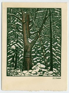 Robert Frost's Christmas Card, 1941 by  J.J. Lankes.