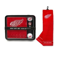 Detroit Red Wings Embroidered Golf Towel Tin Gift Set