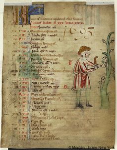 Church Calendar leaves, MS M.908.3 fol. 1r - Images from Medieval and Renaissance Manuscripts - The Morgan Library & Museum