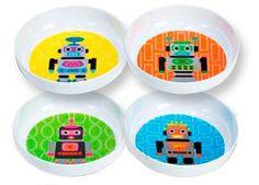 set de 4 bols robots
