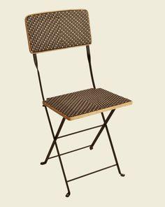 Superbe Chaise Pliante Intérieur Extérieur Tissé Couleurs Chocolat, Gris, Blanc