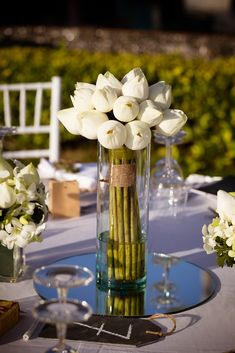 Closed white lotus made such an elegant centrepiece. Elegant Centerpieces, White Lotus, Wedding Decorations, Table Decorations, Table Flowers, Beautiful Islands, Unique Weddings, Florals, Wedding Planner