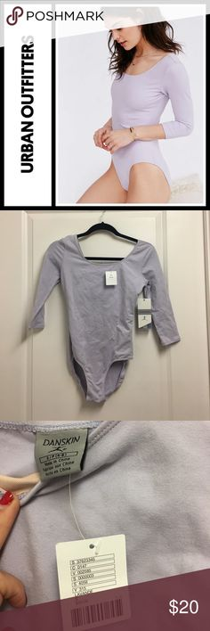 UO Danskin 3/4 sleeve lavender bodysuit NWT New with tags, size small - got from UO! Urban Outfitters Tops