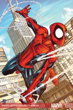 #Spiderman #Fan #Art. (MARVEL ADVENTURES SPIDER-MAN #50 Cover) By: PATRICK SCHERBERGER. (AW YEAH, IT'S MAJOR ÅWESOMENESS!!!™)