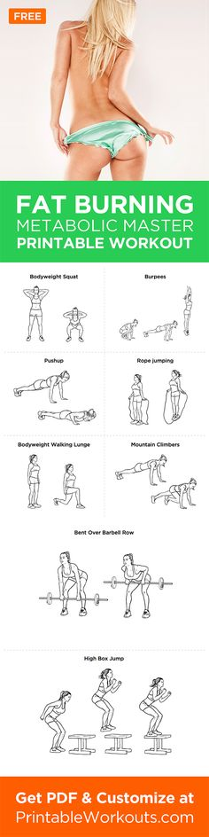 If you want to blast fat, this is the workout for you. This workout will boost your metabolic rate so that you burn up calories for up to 48 hours.