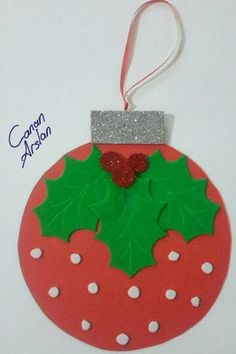weihnachten-ornamet-craft-idea – Crafts-and Worksheets for Preschool,Toddler and… Christmas Art For Kids, Preschool Christmas Crafts, Christmas Arts And Crafts, Felt Christmas, Christmas Projects, Holiday Crafts, Christmas Cards, Christmas Decorations, Christmas Ornaments