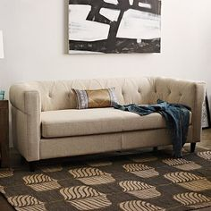 Chester Tufted Upholstered Sofa #WestElm