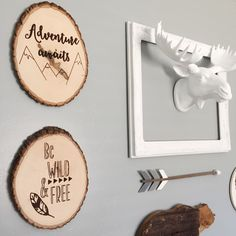 I just finished my boy's room in a modern woodland theme! I LOVE how it turned out! You can find these wood signs at: https://www.etsy.com/shop/thecreativepallet Woodland Nursery, Boho Nursery, Aztek Nursery, boys bedroom, girls bedroom, Adventure Bedroom