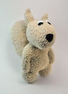 Squirrel Sock Animal by sockart on Etsy