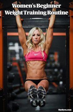 Women's Beginner Weight Training Routine #WeightLiftingRoutines