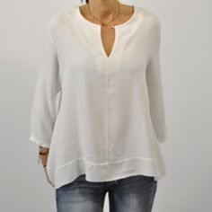 Camisa blanca botón