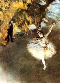 Edgar Degas - Dancers Edgar Degas - Dancer on Stage Edgar Degas - The Star Edgar Degas - Three Ballet Dancers Edgar D. Degas Ballerina, Ballerina Kunst, Ballerina Painting, Edgar Degas, Famous Art Paintings, Renoir Paintings, Most Beautiful Paintings, Ballerine Degas, Mary Cassatt